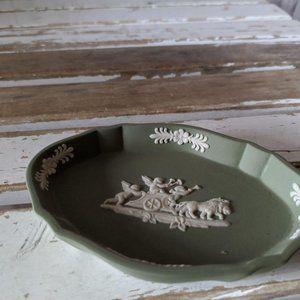 Wedgwood lion chariot cherubs sage green dome trin